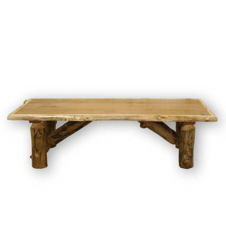Rustic Furniture Log Style Coffee Table