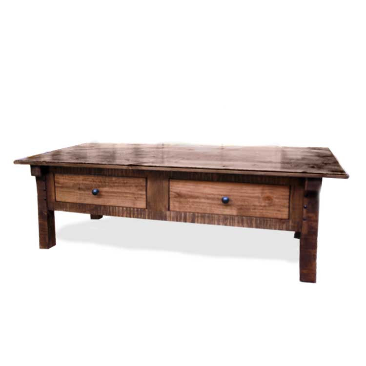 Rustic Furniture Distressed Alder Coffee Table