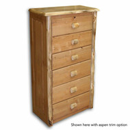 4206 Tall Rustic 6 Drawer Chest of Drawers