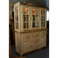 4214 Rustic Log China Hutch