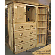 4218 Four Drawer Rustic Log Armoire