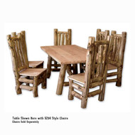 5203 Rustic Log Dining Table