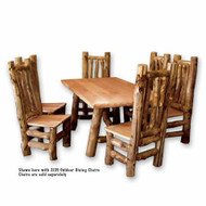 5207 Outdoor Rustic Log Picnic Table