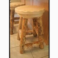 5216 Rustic Log Swivel Barstool