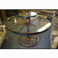 5217 Rustic Wagon Wheel Table
