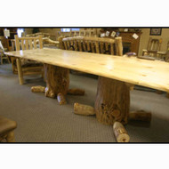 5218 Rustic Log Stump Dining Table