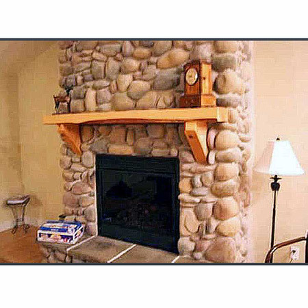 6208 The Timber Hearth Log Mantle