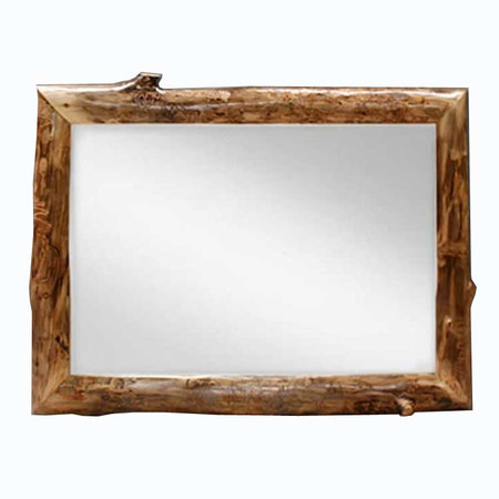 6210 Rustic Aspen Log Mirror Frame with Mirror