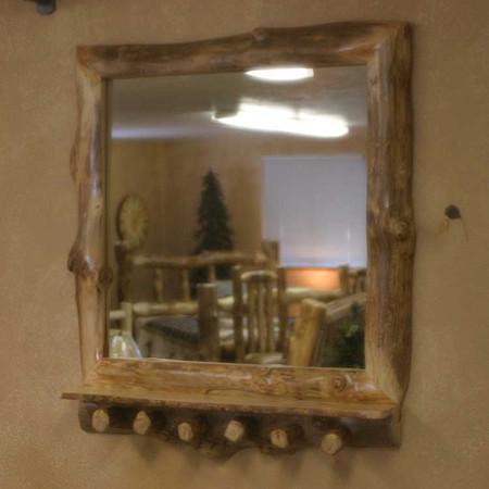6221 Rustic Mirror Frame Coat Rack