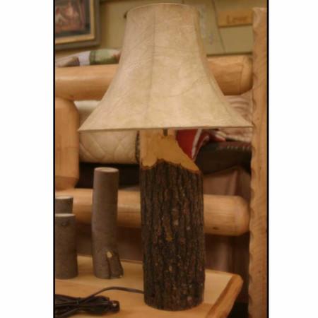 6326 Rustic Log Beaver Chewed Lamp