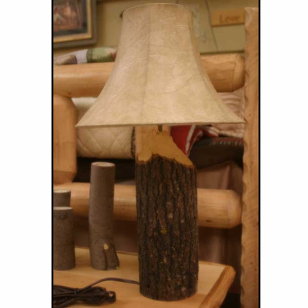 6326 Rustic Log Beaver Chewed Lamp