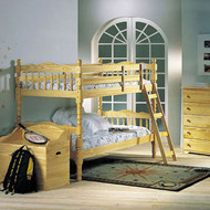 A02299 Natural Finish Twin Over Twin Bunk Bed