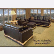 A2211SET Aspen Trimmed Leather Couch Set