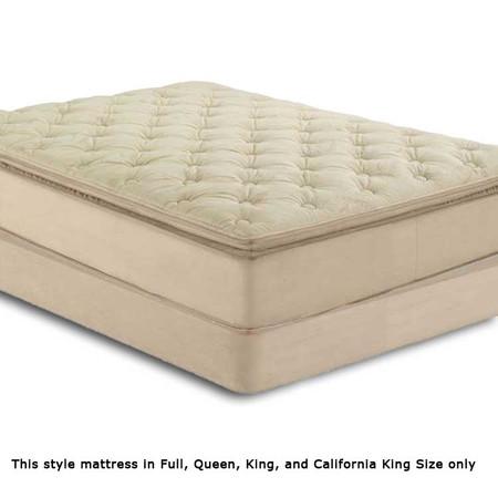 A29076 Beige Suede Pillow Top Mattress Set