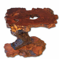 CET0106 Rustic Redwood Burl End Table/ Nightstand