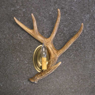 CHW1S Whitetail 1 Antler Sconce