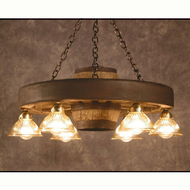 CHWWSDL Small Wagon Wheel Downlight Chandelier