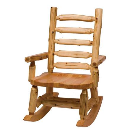 FL13200 Rocking Chair with Log Backrest