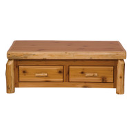 FL14110 Cedar Enclosed Coffee Table With Elevating Top