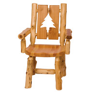 FL16171 Cut-Out Log Arm Chair