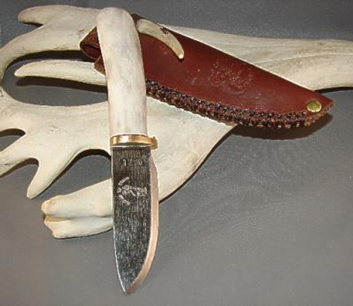 Custom Made Reindeer Antler Knife (The Badger)