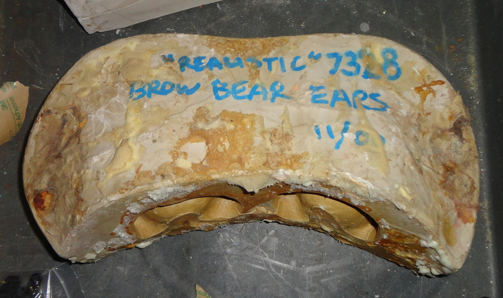 Realistic Brown Bear Ears Mold