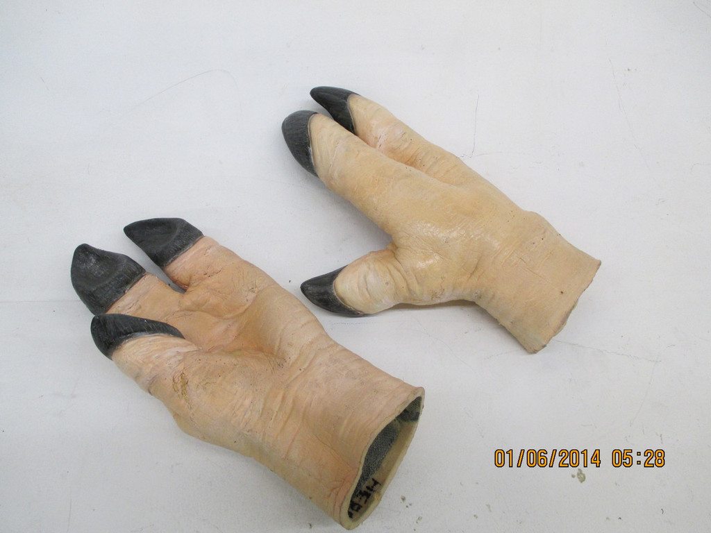 Realistic Costume Pig Boar Gloves that are Flexible.