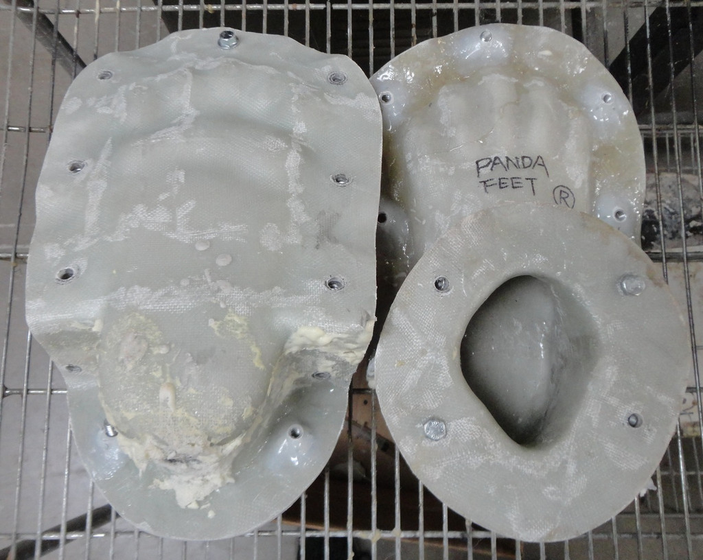 Panda Bear Costume Feet Mold