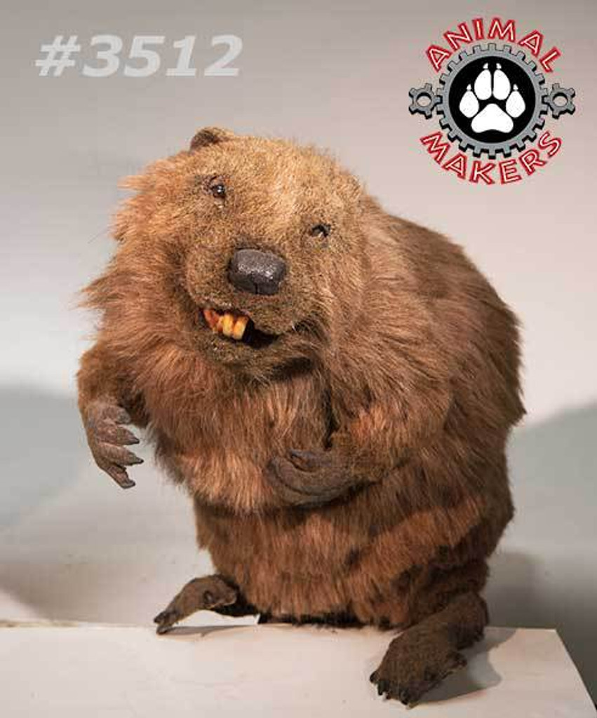 Close up of animated beaver #3512 which is included in this art production and mold set