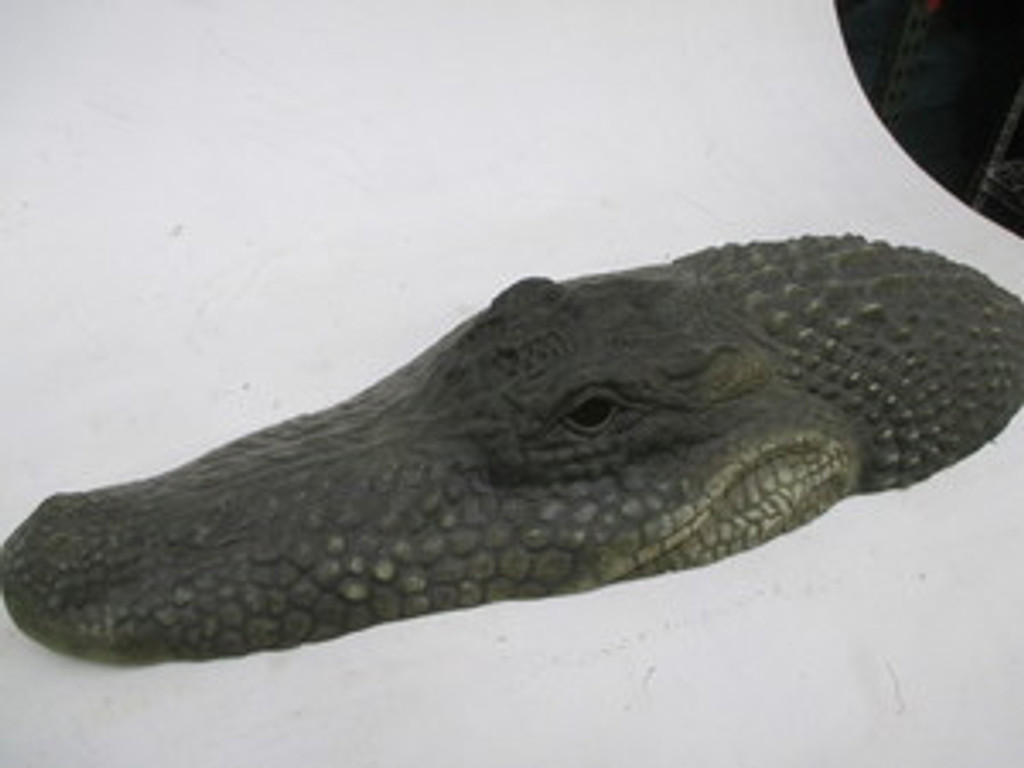 Alligator Crocodile Head and Neck Movie Prop