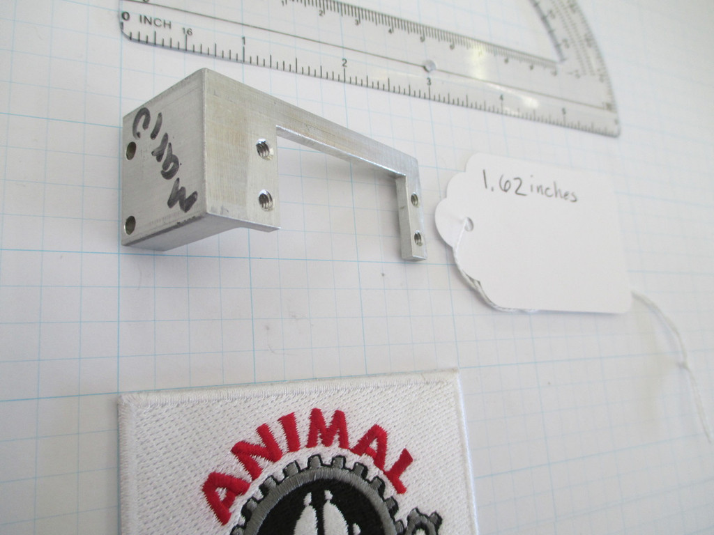 1.62 inch Servo Bracket and Cable Bulkhead opposite side view