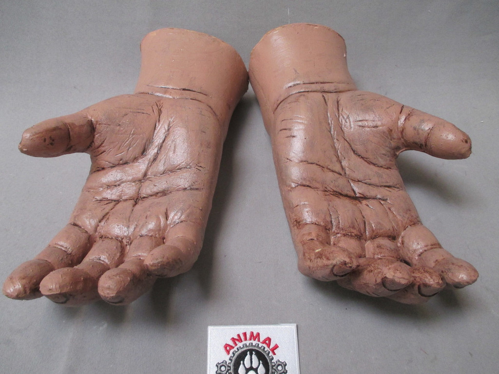 """A pair of """"gloves"""" that make your hands look like a Bigfoot, yeti etc."""