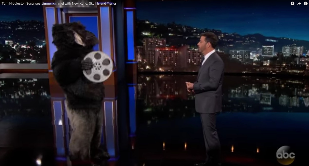 "Grüd The Gorilla Promotes ""King Kong, Skull Island"" on Jimmy Kimmel"