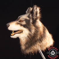 realistic wolf or dog mask pattern was used making this replica