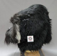 "Grodd gorilla suit head.  For a size comparison, our white patch is 2""X2""."
