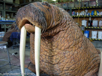 Animatronic walrus puppet included in this package