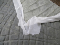 laced with power net for support- allows the skin to stretch and return to shape