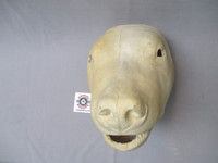 Mask is cast from foam latex-