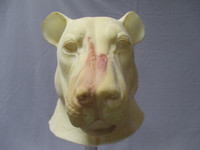 """Whole Head Realistic """"Scarred"""" Lion Mask"""