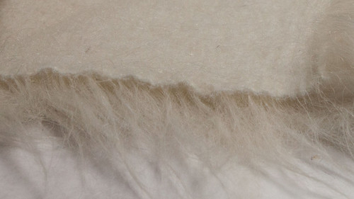 Stretch Plush Fabric - White