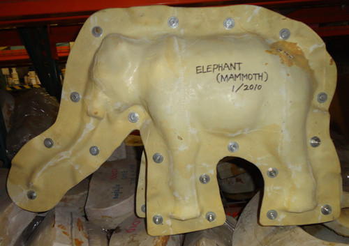 Realistic Mammoth Scale Model Mold