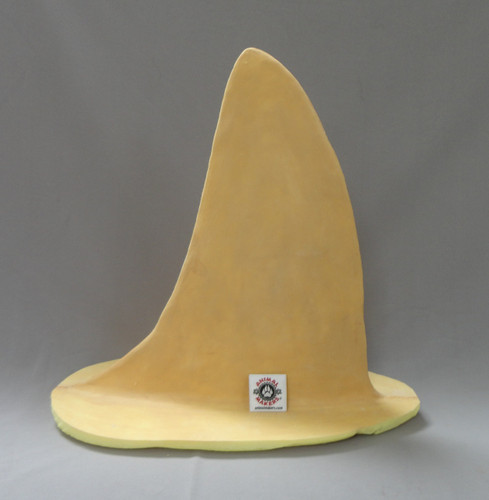 Realistic Great White Shark Fin Blank Form