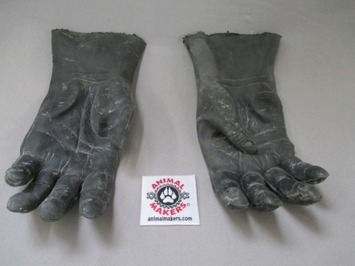 Gorilla hands black latex skin gloves