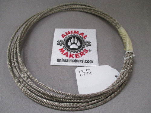 "1/8"" steel cable, 13 ft."