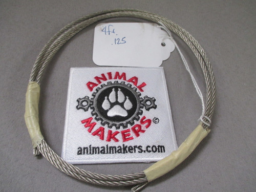 "1/8"" steel cable- 4 ft. length"