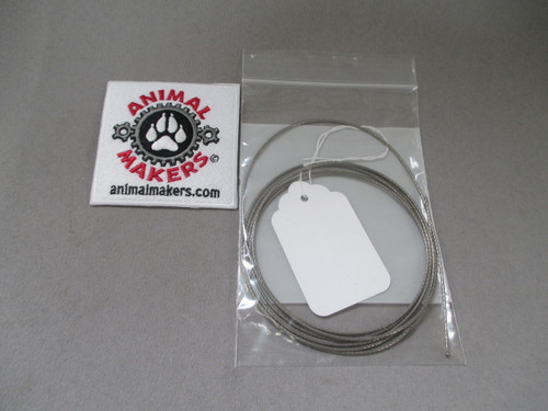 """1/16"""" Steel Cable- 6ft., 2in. Length"""