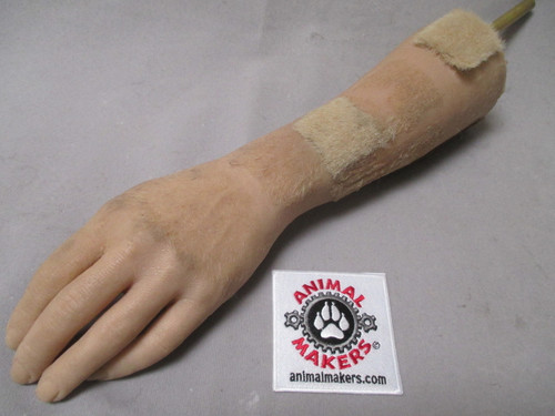 Human Left Hand- Silicone w/ hair patches
