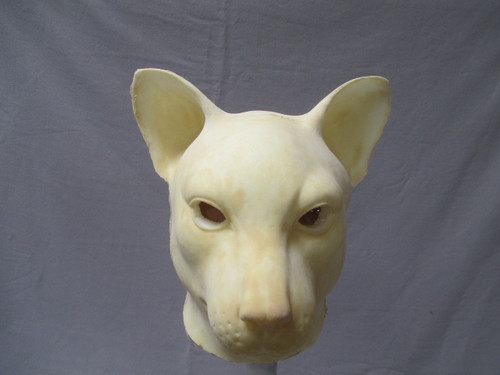 Whole Head Realistic Cat Mask - unfinished