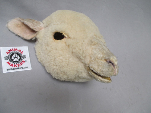 Animated Sheep Puppet foam face- Right Side View