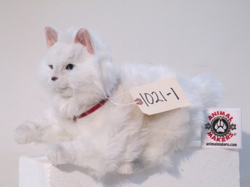 Animated Sitting White Cat Movie Prop